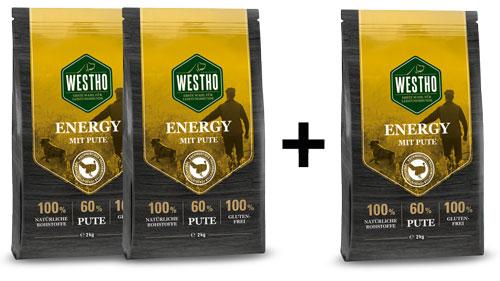 Energy 3 x 2,0 kg (mit 60 % Pute)