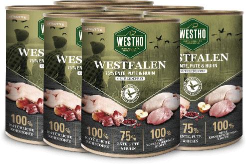 Westfalen 800g (mit 75 % Wildente, Pute und Huhn)